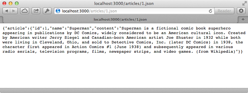 The JSON is now generated by the serializer.