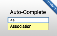 Auto-Complete Association (revised)