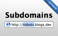 Subdomains (revised)