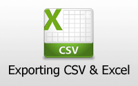 Exporting CSV and Excel