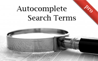 Autocomplete Search Terms